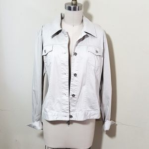 Madison // Twill Cotton Long Sleeve Utility Jacket